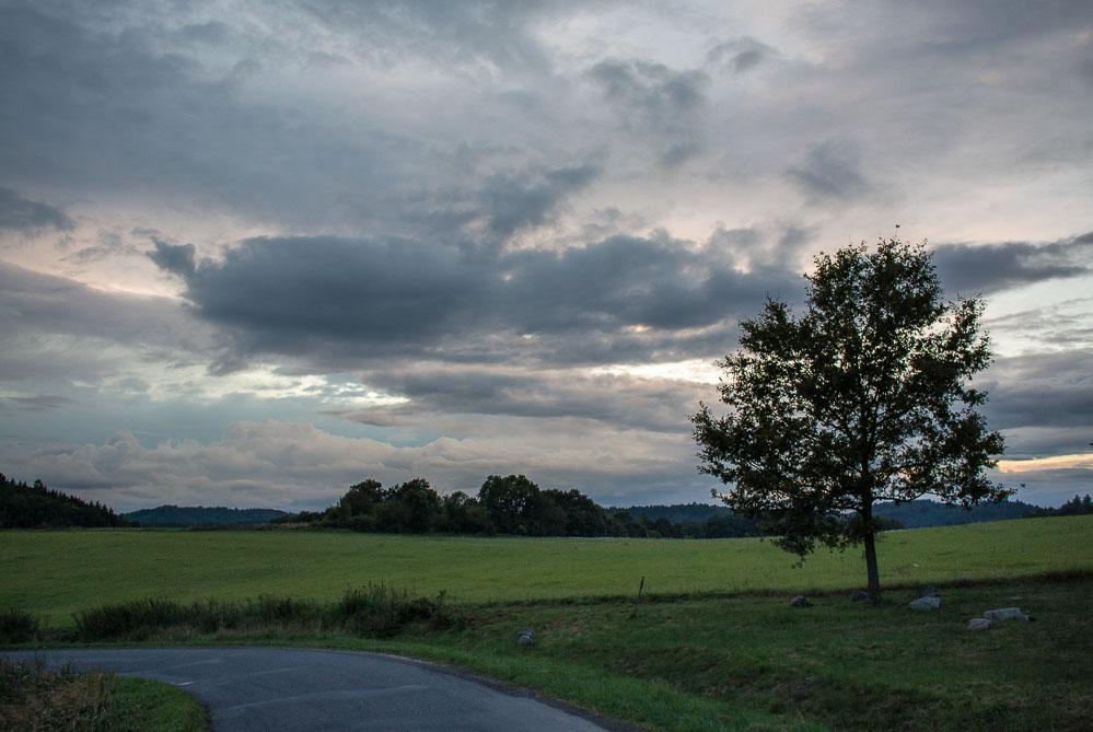 Fotografie nebe po soumraku