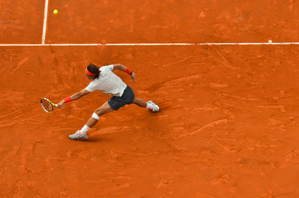 Rafael Nadal v akci