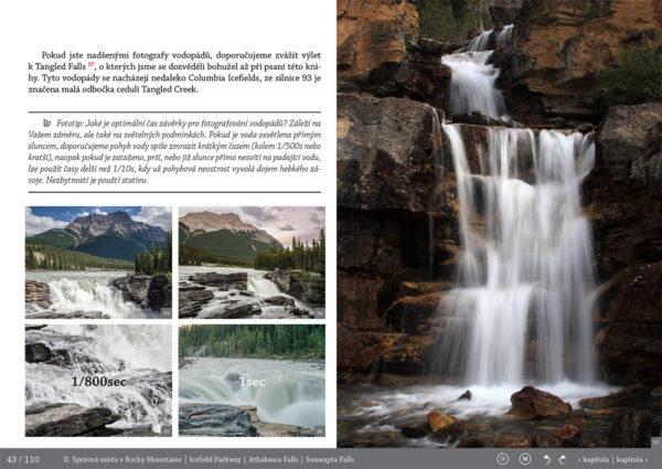 Jak-se-foti-vodopady-Fotopruvodce nejen pro fotografy o Rocky Mountains (Skaliste hory) - Kanada