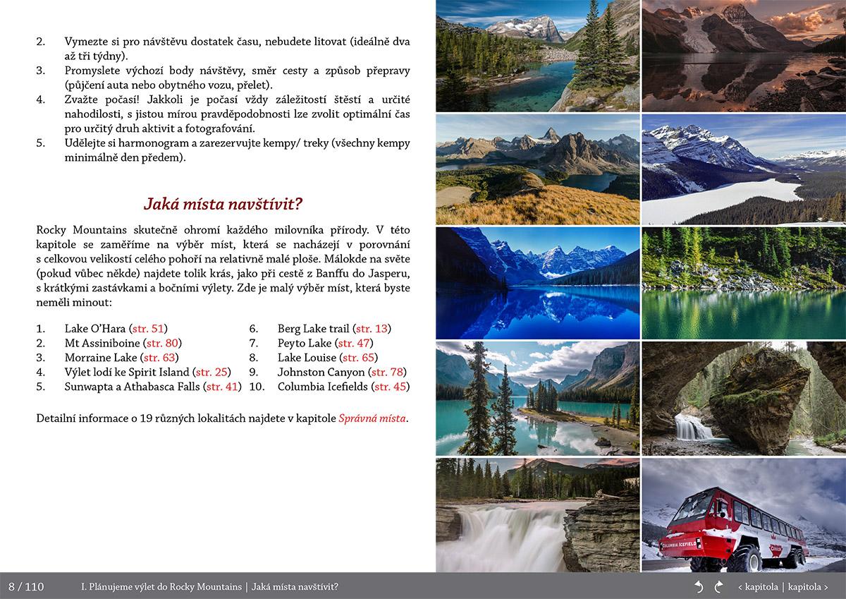 Top10 mista - Fotoprůvodce nejen pro fotografy o Rocky Mountains (Skalisté hory) - Kanada