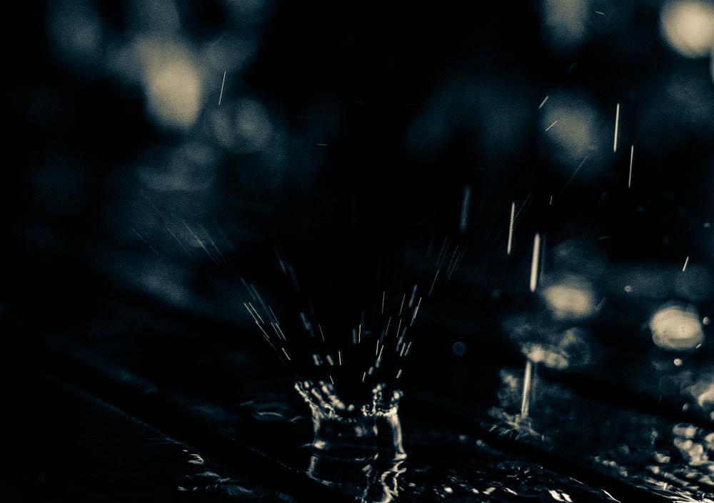 Padající dešť