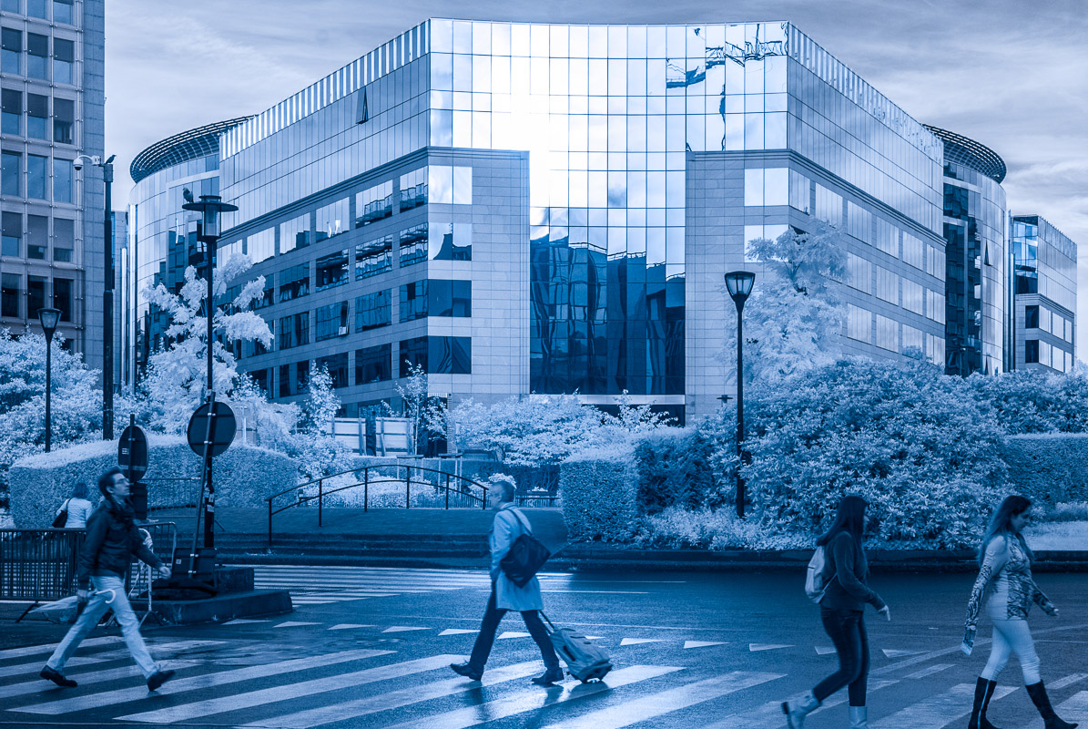 Brusel - pohled na budovu s lyrickým názvem EEAS (European Union External Action Service)