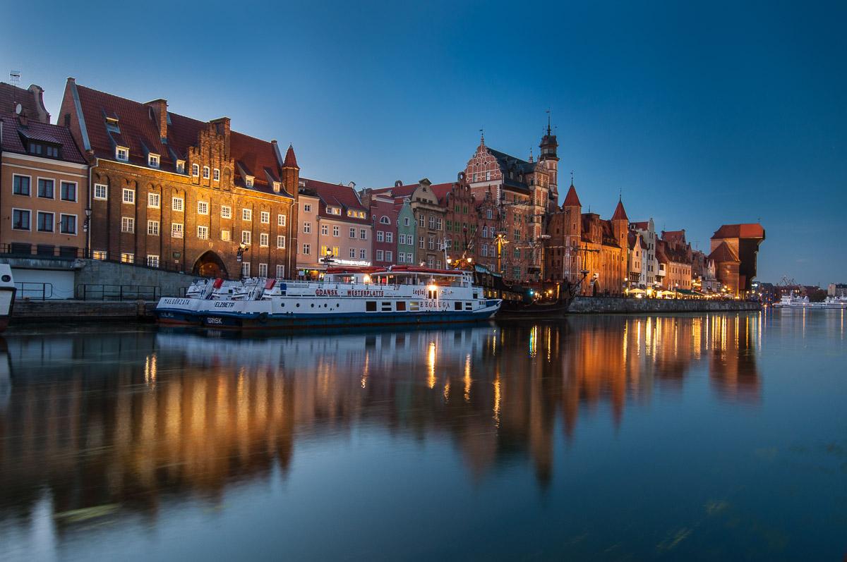 Noční Gdaňsk (Danzig)