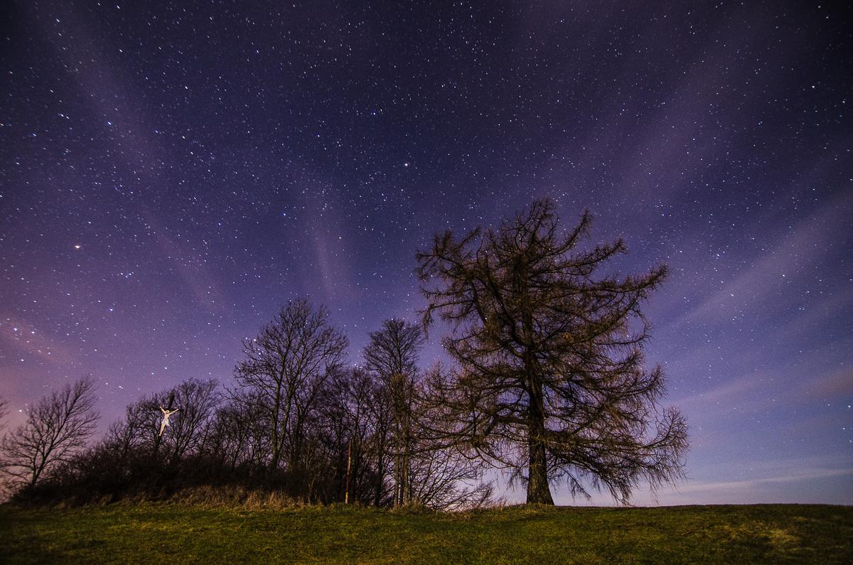Noční fotografování vČesko-Saském Švýcarsku: měsíc a hvězdné nebe v hlavní roli