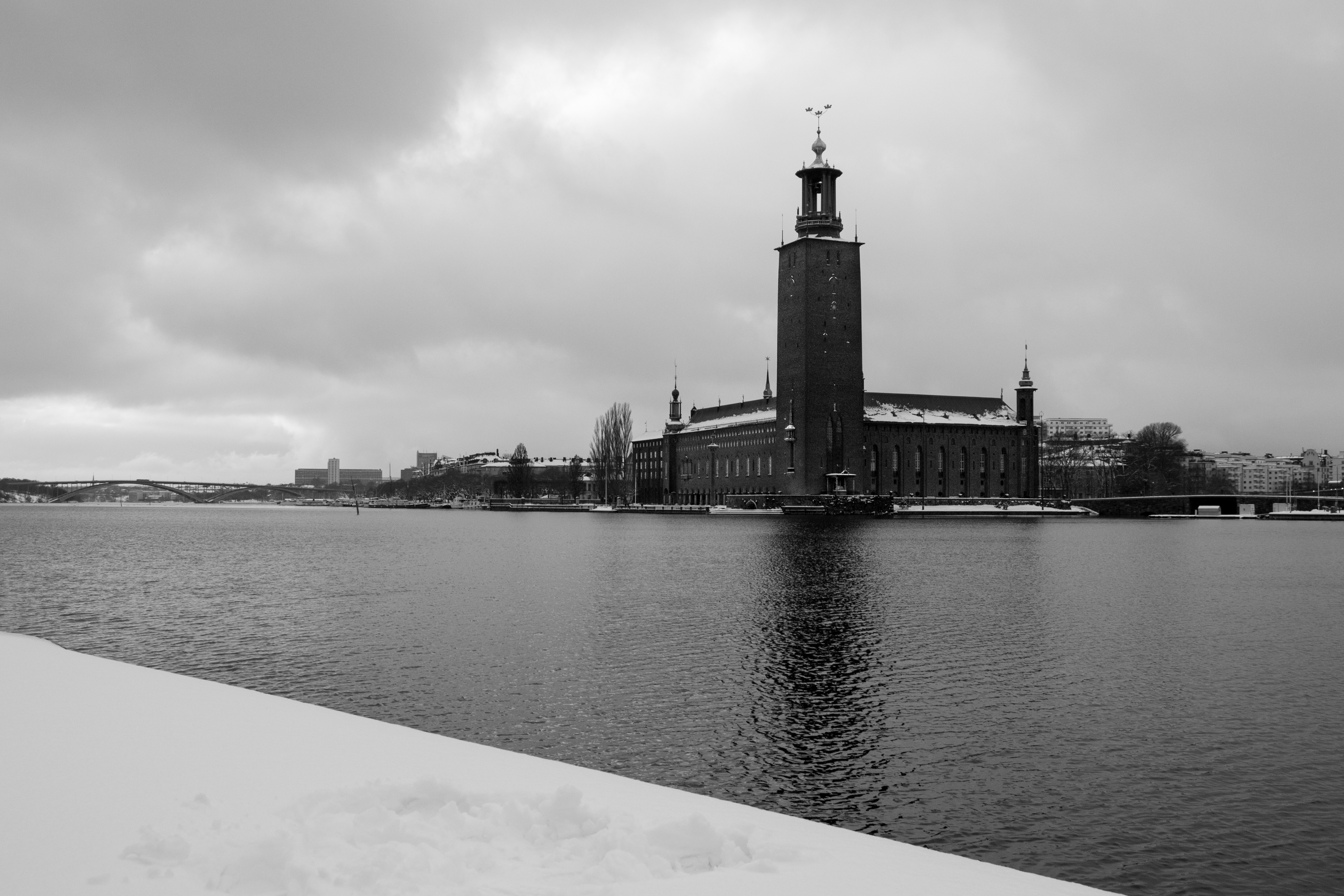 Stockholm pod sněhem