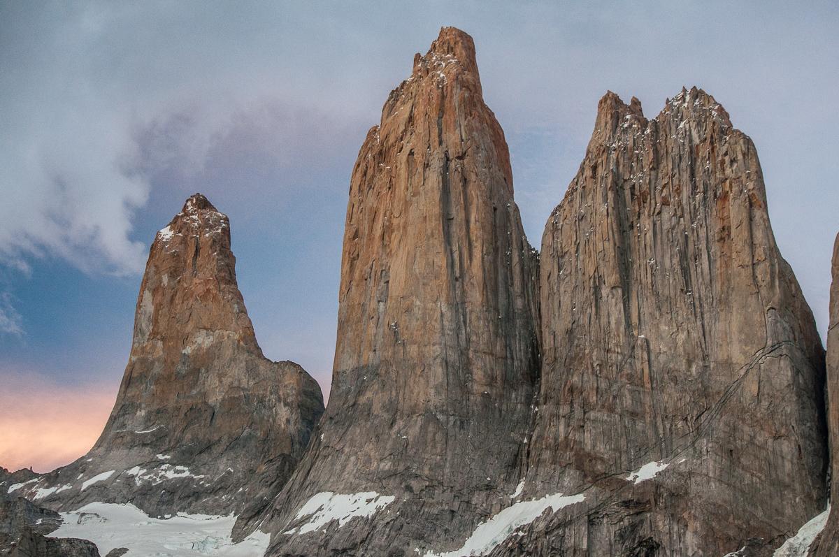 Pohoří Torres del Paine v Chile.