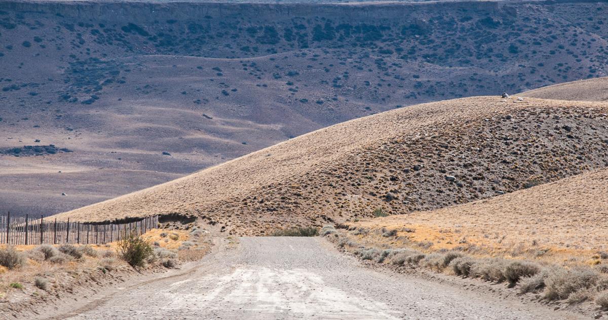 Patagonská step.