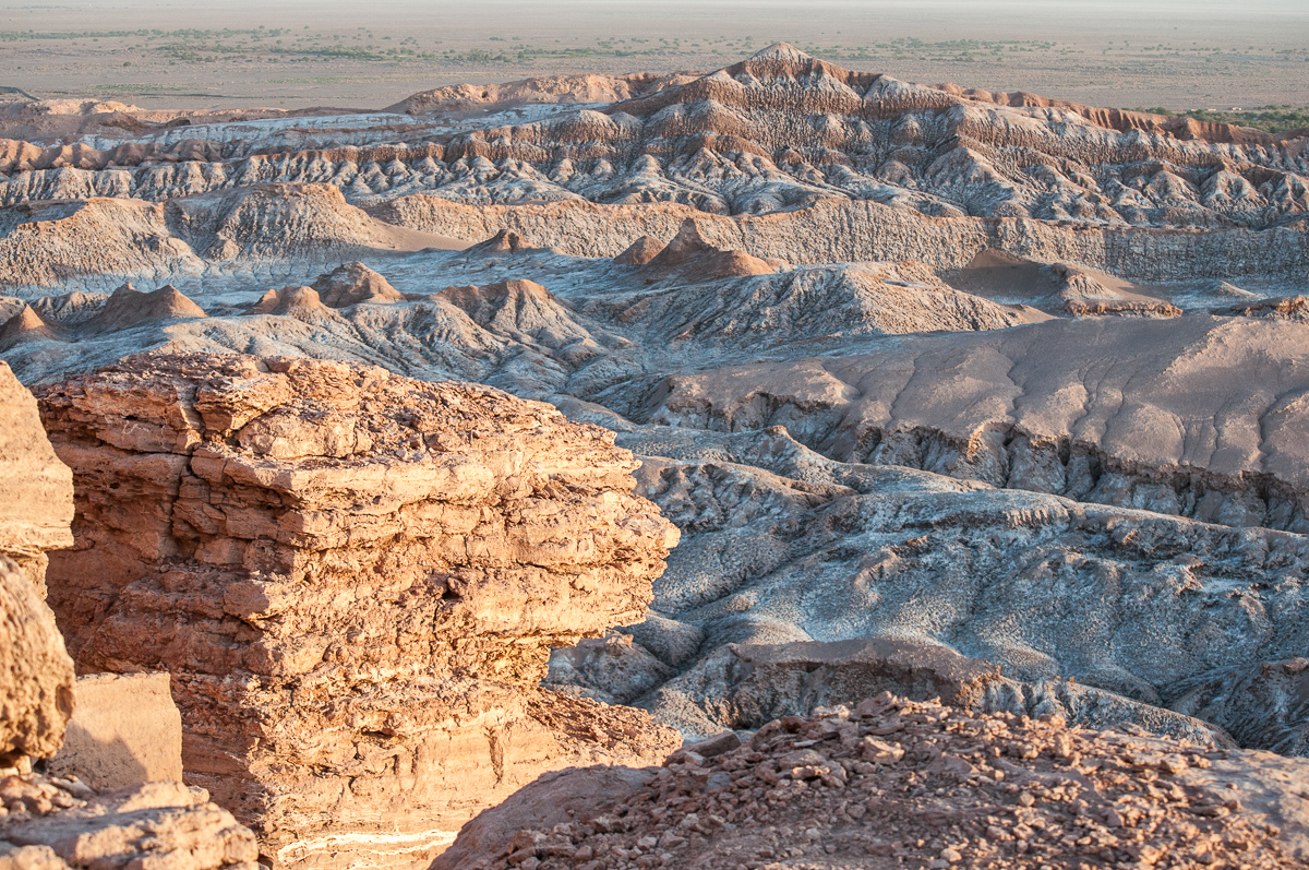 Měsíční údolí v poušti Atacama.