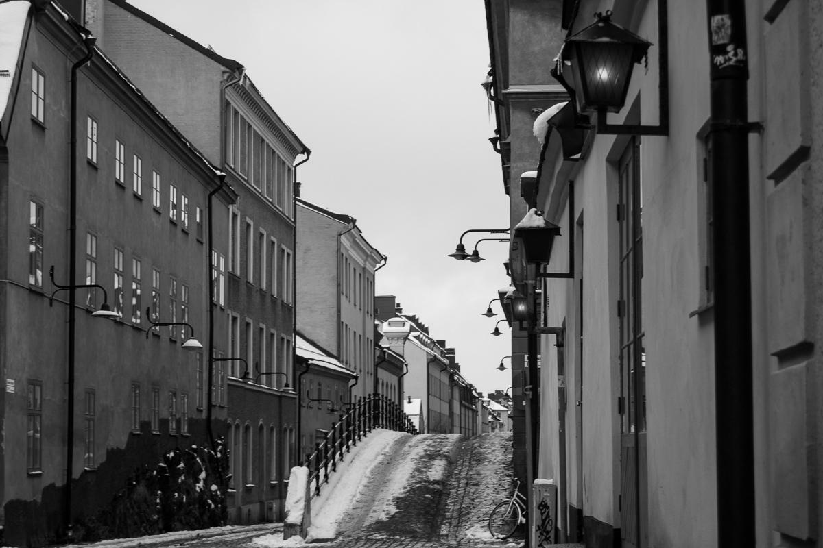 Uličky Södermal, Stockholm
