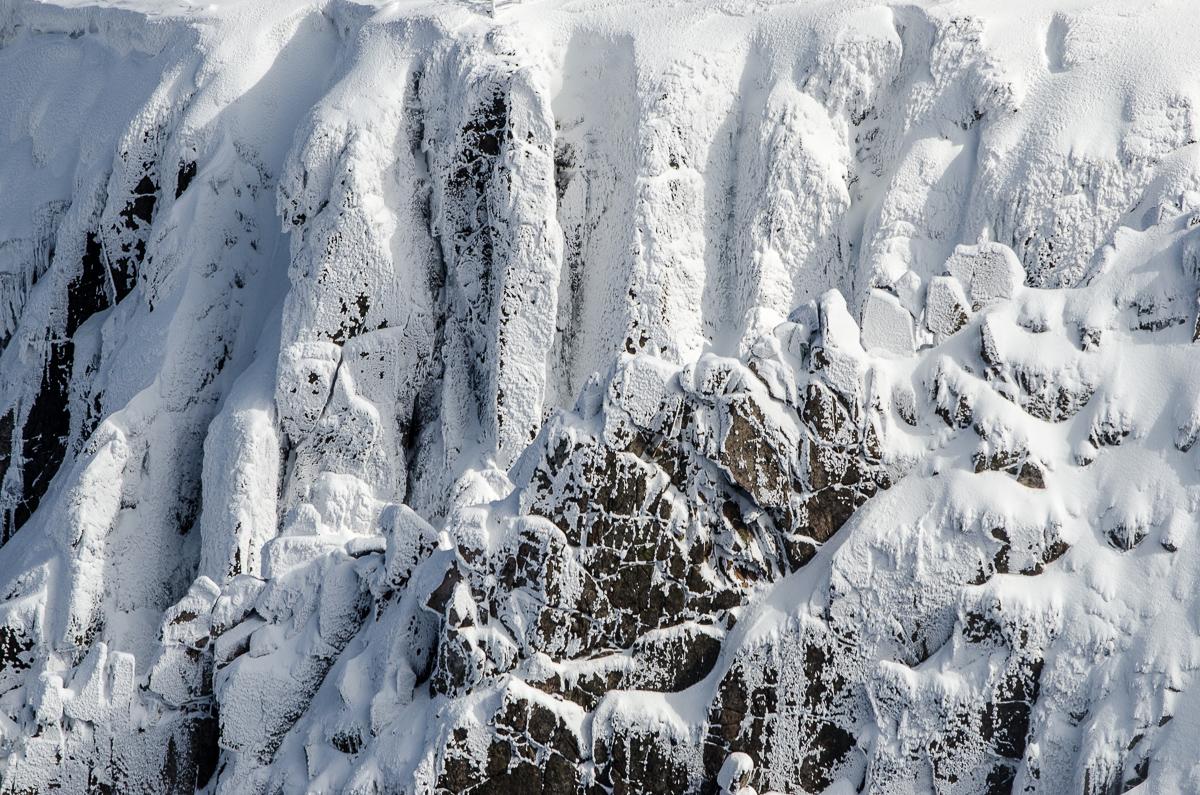 Detaily žulových skal ve Sněžné jámě