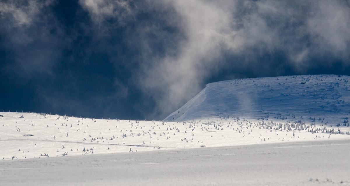 Pohled od Sněžné jámy směrem ke Kotli
