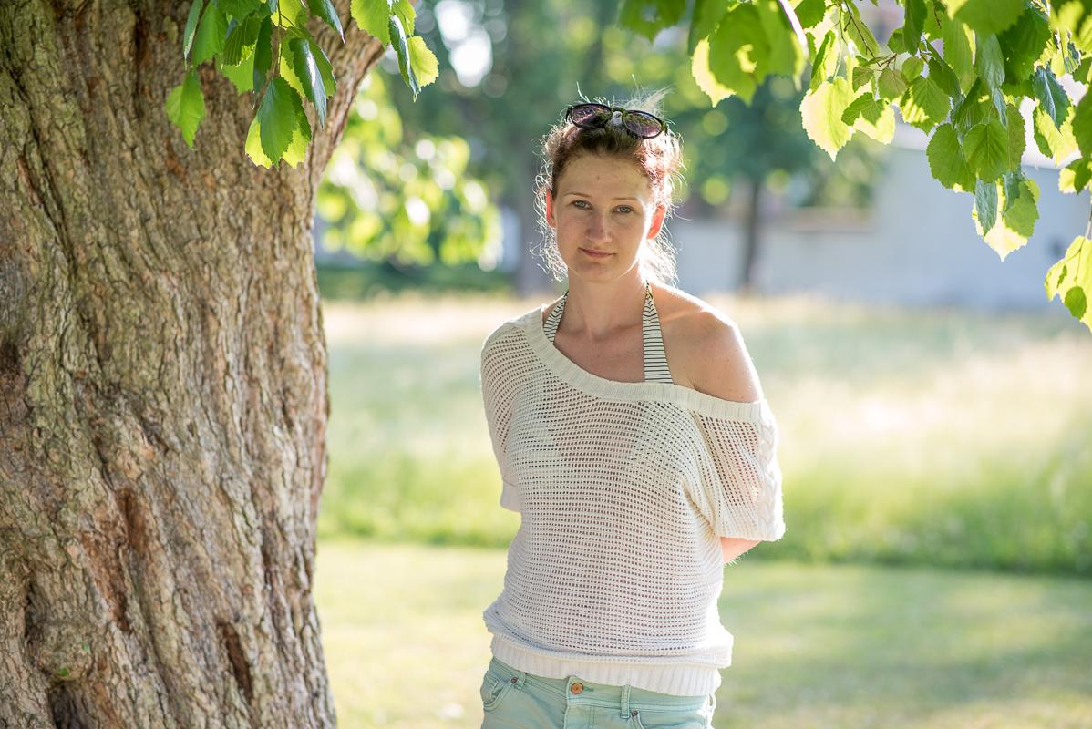 Portrét (bez retuší) se skvělým portrétním objektivem 85mm f1,8G.