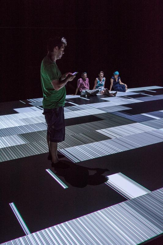 Ryoji Ikeda - plzeňská instalace