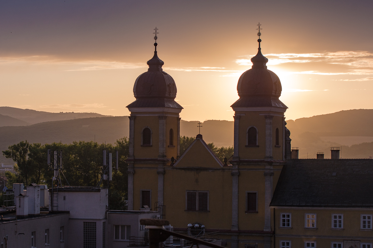 Západ slunce nad Trenčínem