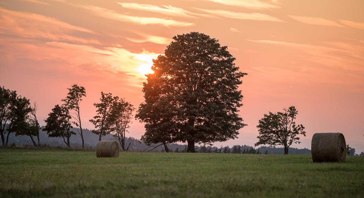 Západ skunce nad Horní Rybnou