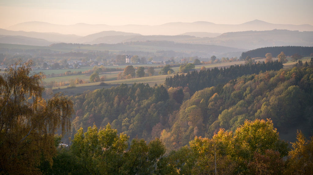 Krkonose, Broumovsko, panorama, vyhled