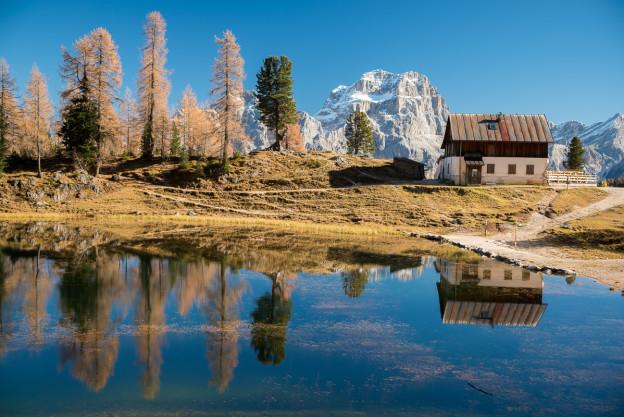 Lago Federa, Autumn, refelction