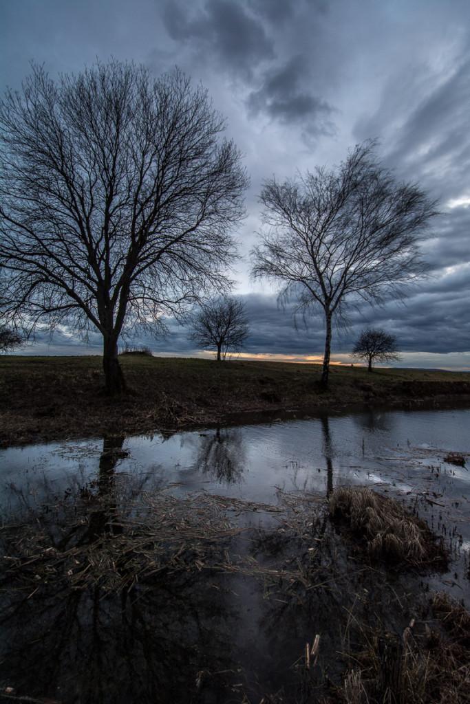 Český ráj, Nepřívěc,  studená fronta, dramatická mračna