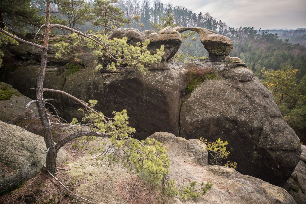 Příhrazské skály - skalní oblouk