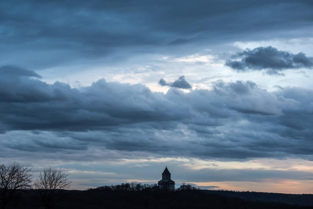 Český ráj, Humprecht, Sobotka, studená fronta, dramatická mračna