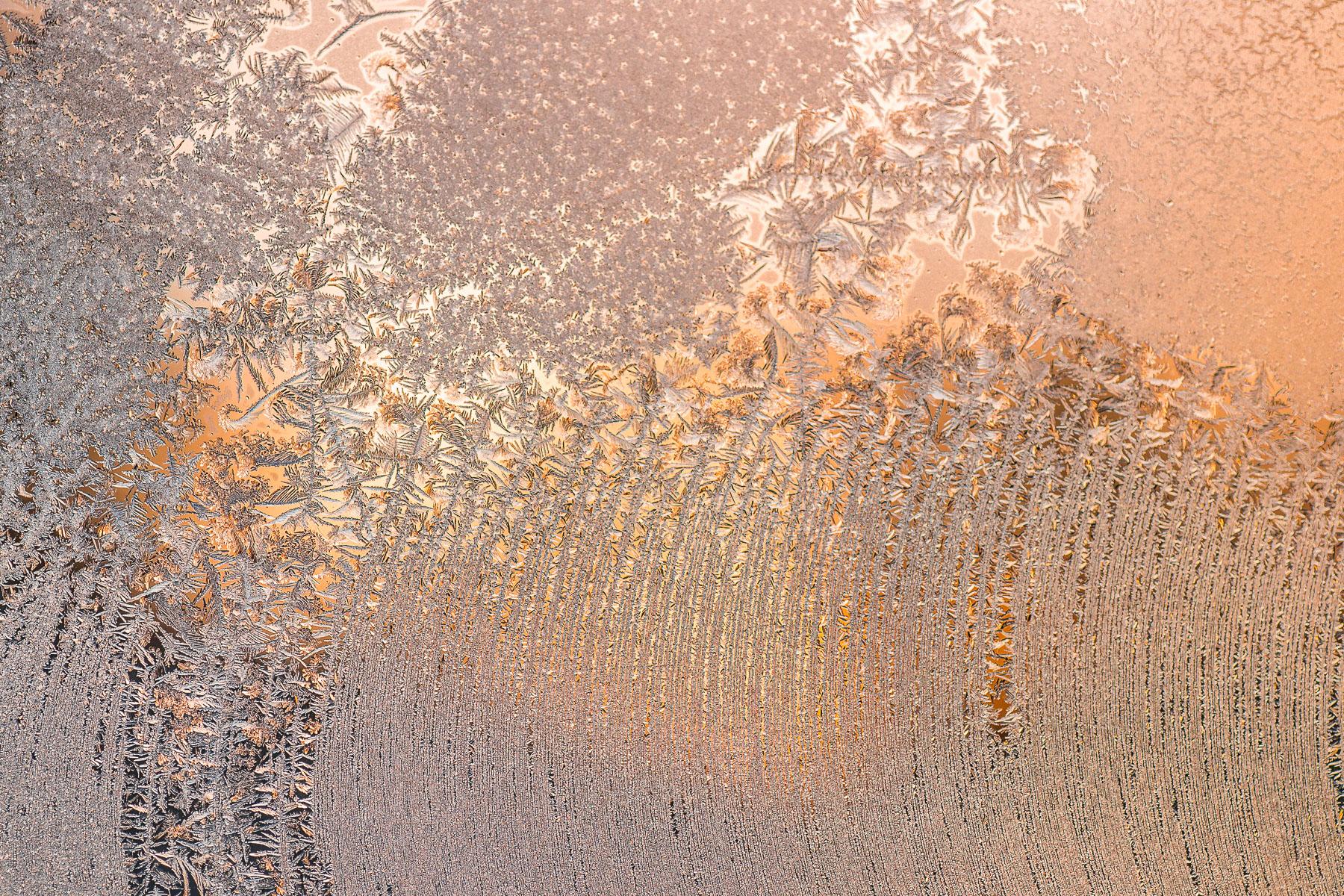 Kreativní makrofotografie: námraza na okně