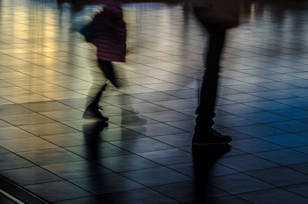 walkers, motion, migration, reflections