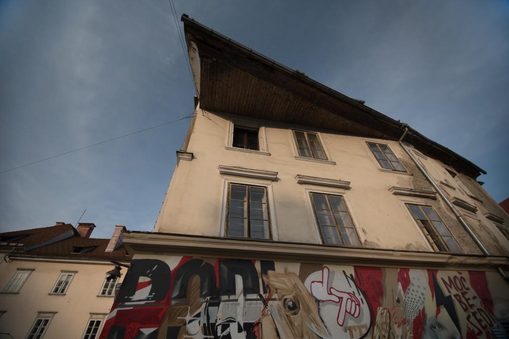 Lublaň, Ljubljana, Oldtown, město, centrum, dům, střecha