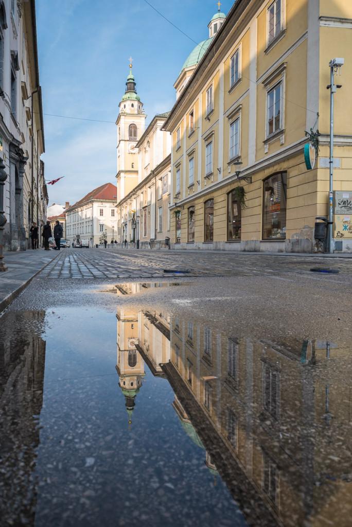 Lublaň, Ljubljana, Oldtown, město, centrum, katedrála sv. Mikuláše