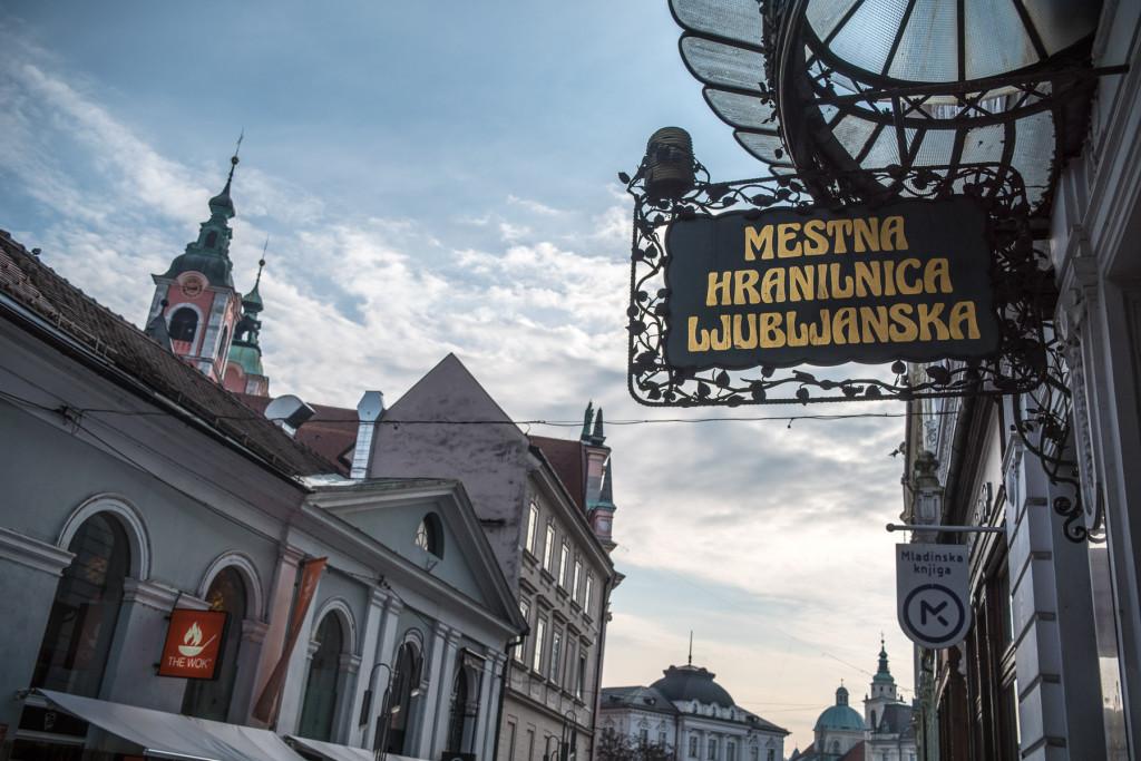 Lublaň (Slovinsko): Čopova ulica - příklady secesních prvků