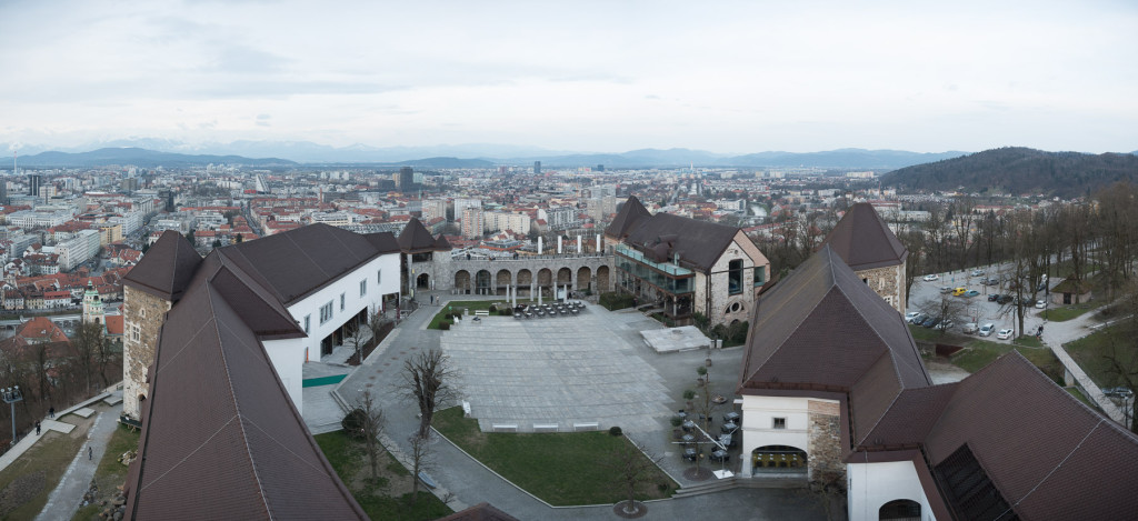 Lublaň (Slovinsko): Panorama hradu