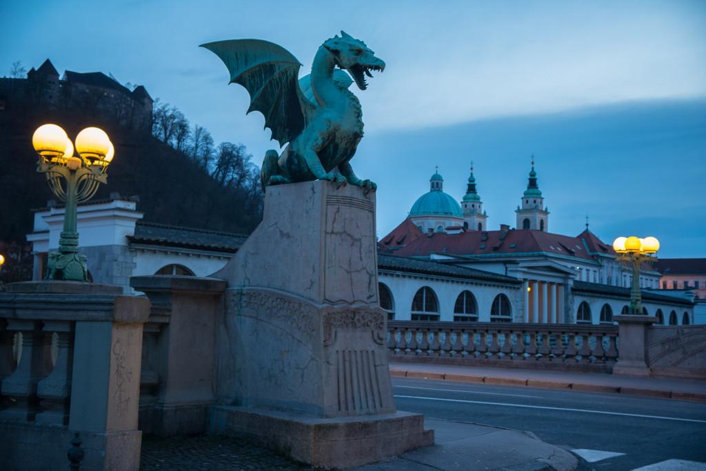 Lublaň, Ljubljana, Oldtown, město, centrum, Plečnik, Most, Dračí most, Zmajski most