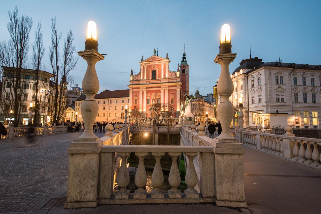 Lublaň, Ljubljana, Oldtown, město, centrum, Plečnik, Prešerenovo náměstí, Trojmostí, Plečnik