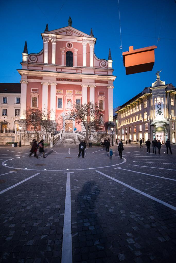 Lublaň, Ljubljana, Oldtown, město, centrum, Plečnik, Prešerenovo náměstí