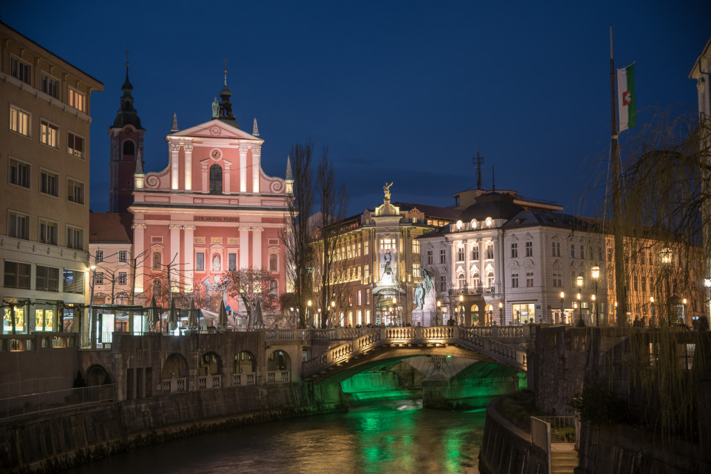 Lublaň, Ljubljana, Oldtown, město, centrum, Plečnik,