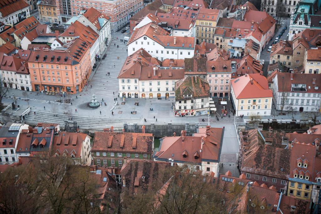 Lublaň, Ljubljana, Oldtown, město, hrad