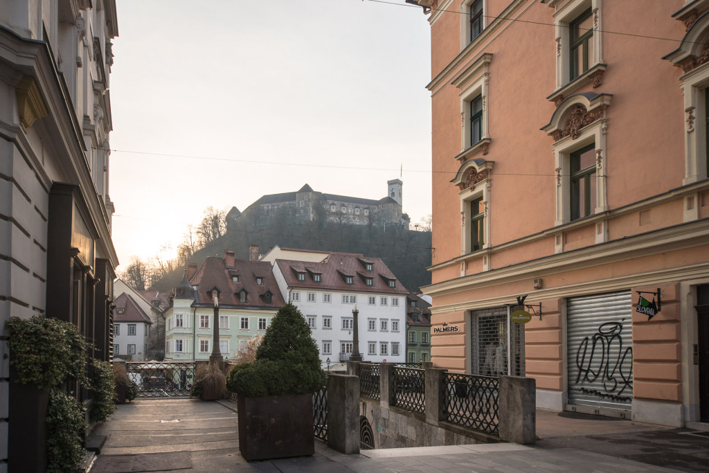 Lublaň, Ljubljana, Oldtown, město, centrum, hrad, Plečnik