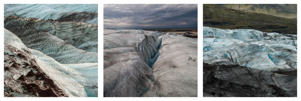 Island, triptych, ledovec
