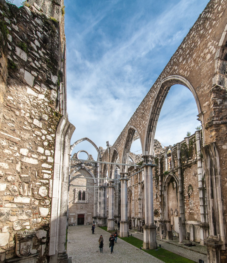 Lisabon, Lisbon, Carmo Convent, Portugal, Portugalsko, město, architektura