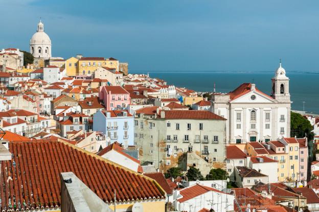 Lisabon, Lisbon, Miradouro de Santa Luzia, Portugal, Portugalsko, město, architektura