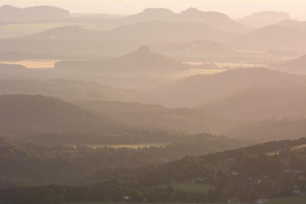 Panorama a výhlidka ze Studence, Česko-saské Švýcarsko