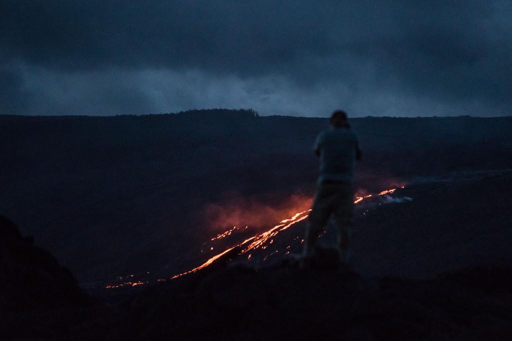 Lava flow, Big Island, Hawaii,  Puʻu ʻŌʻō