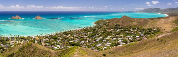 Havaj, ostrov Oahu, pláž Lanikai