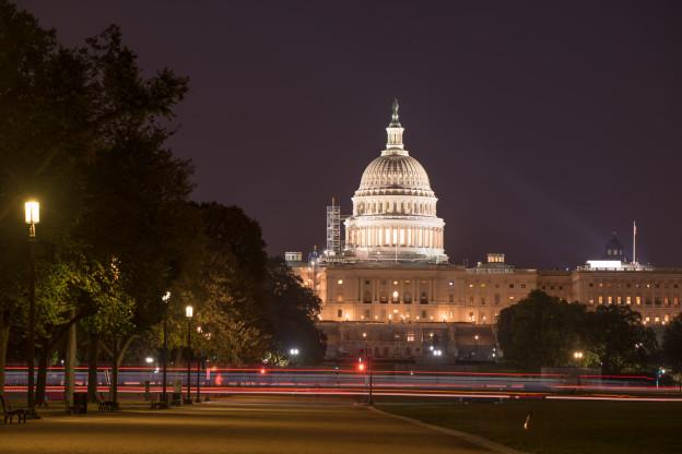 Večerní United States Capitol