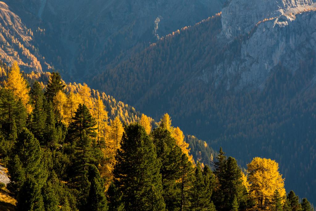 podzimní Dolomity, Val di Vajolet