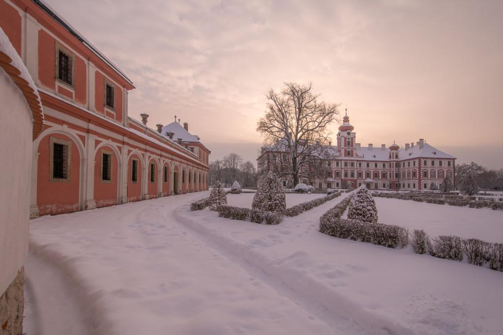 Český ráj v zimě (zámek Mnichovo Hradiště)