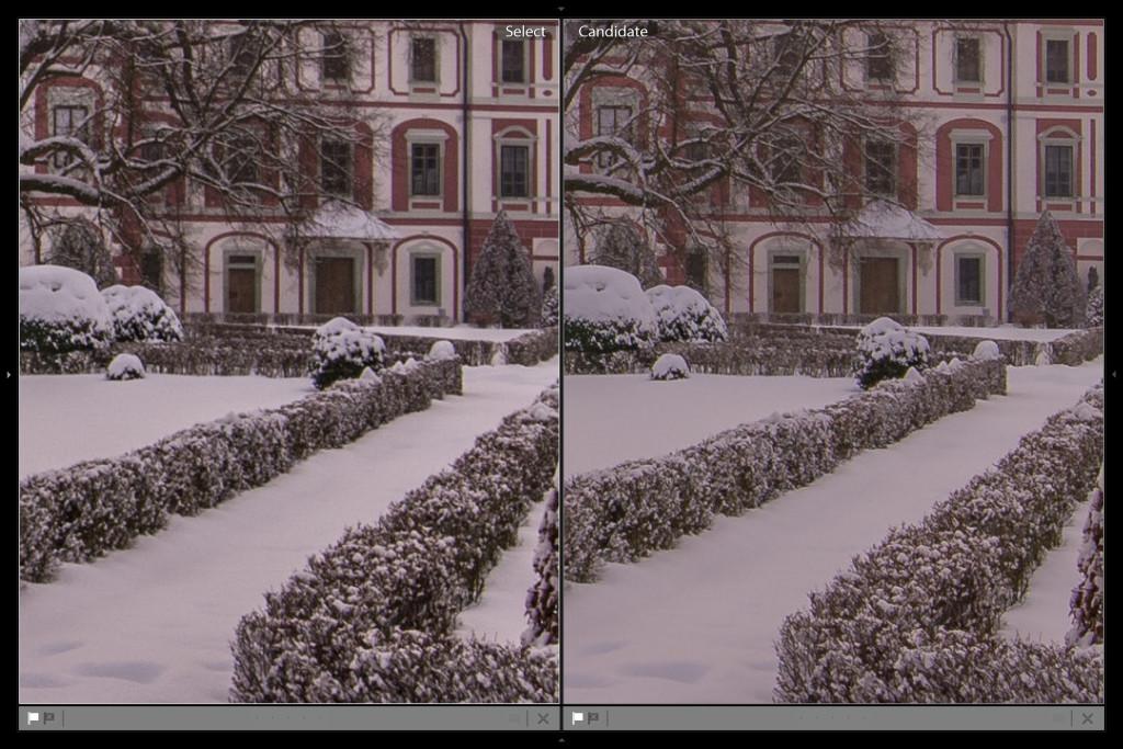 A ještě z větší blízkosti - vlevo clarity v plusu, vpravo clarity v mísu + doostřeno