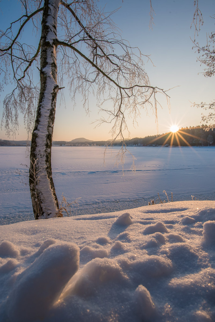 Český ráj v zimě (Komárovský rybník)