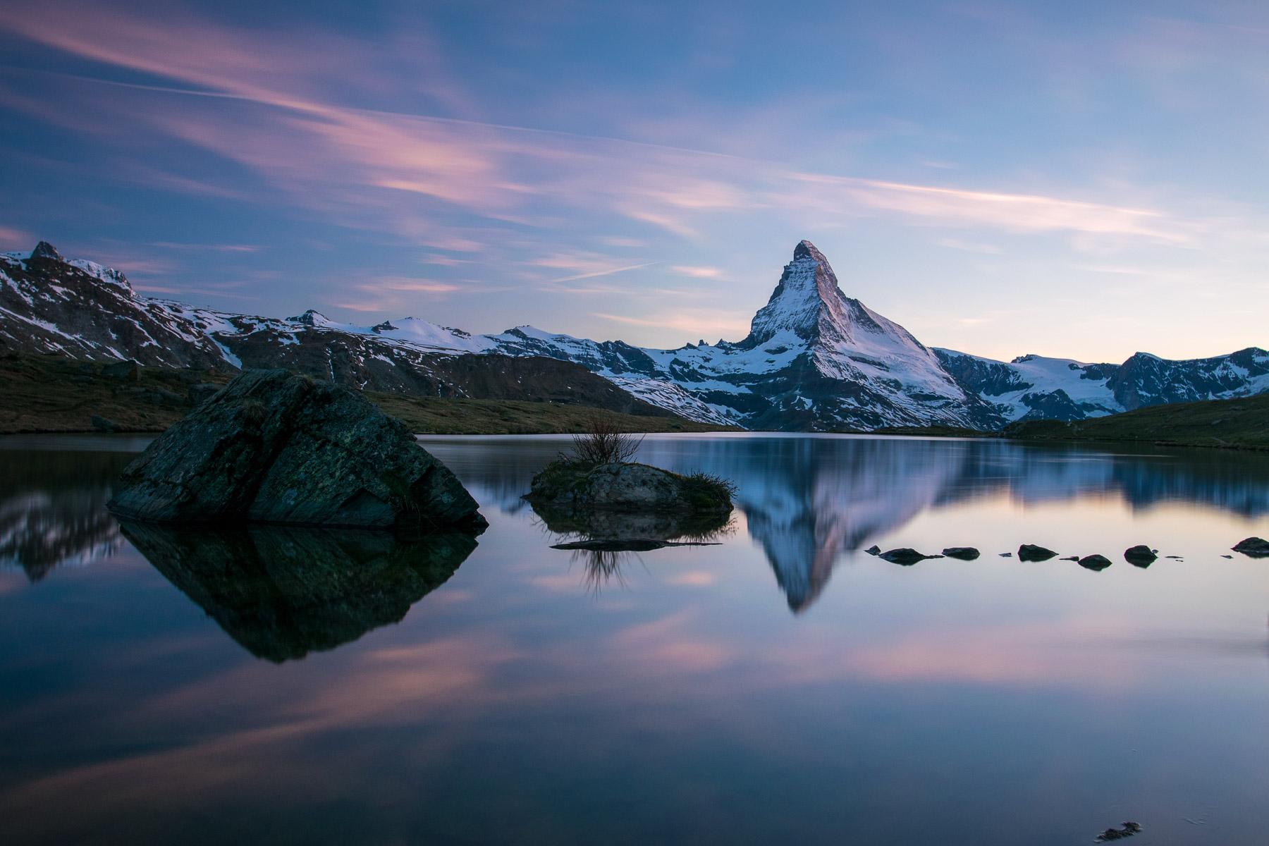 Matterhorn – odrazy vjezeře Stellisee