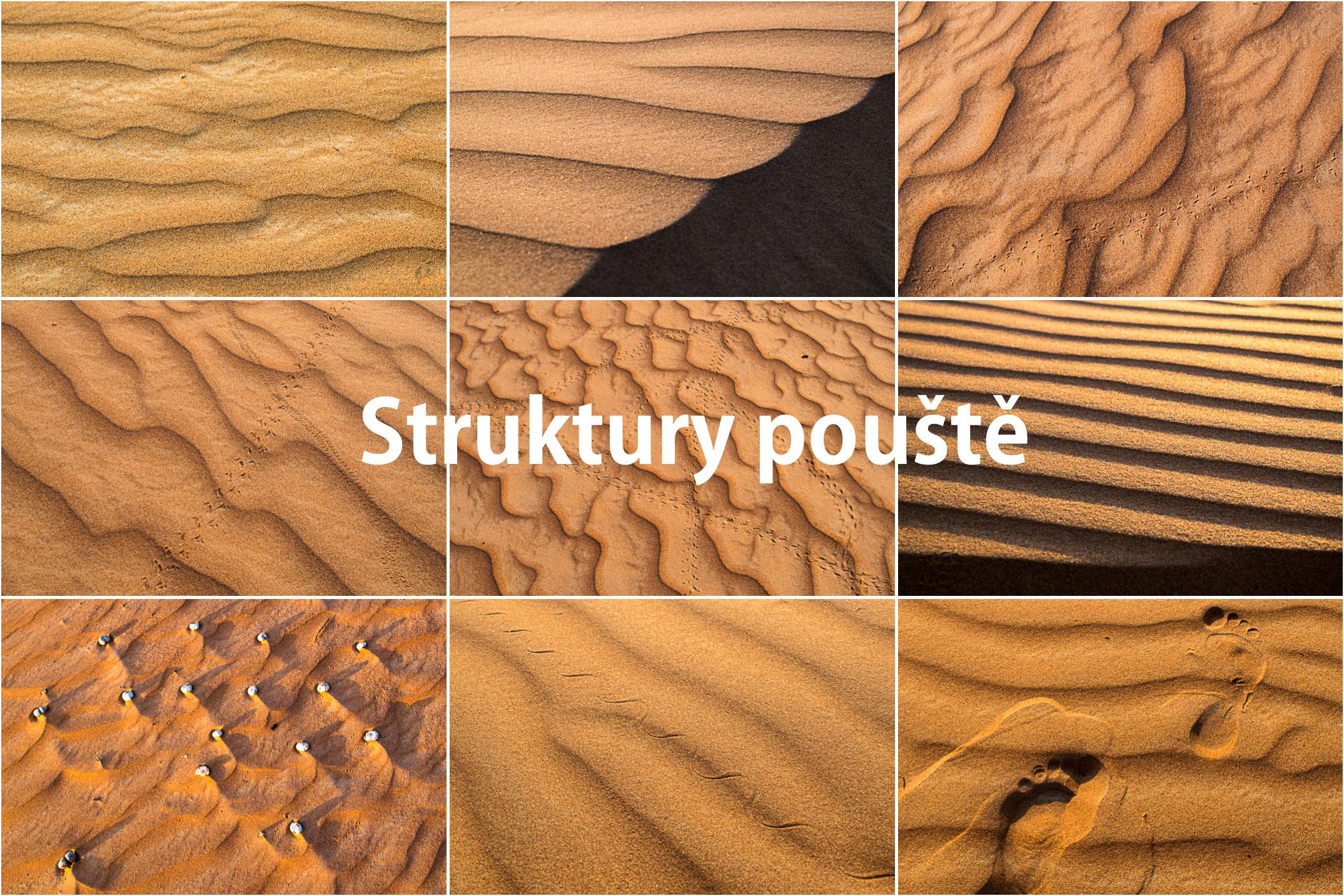 Fotografování v Ománu: struktury pouště