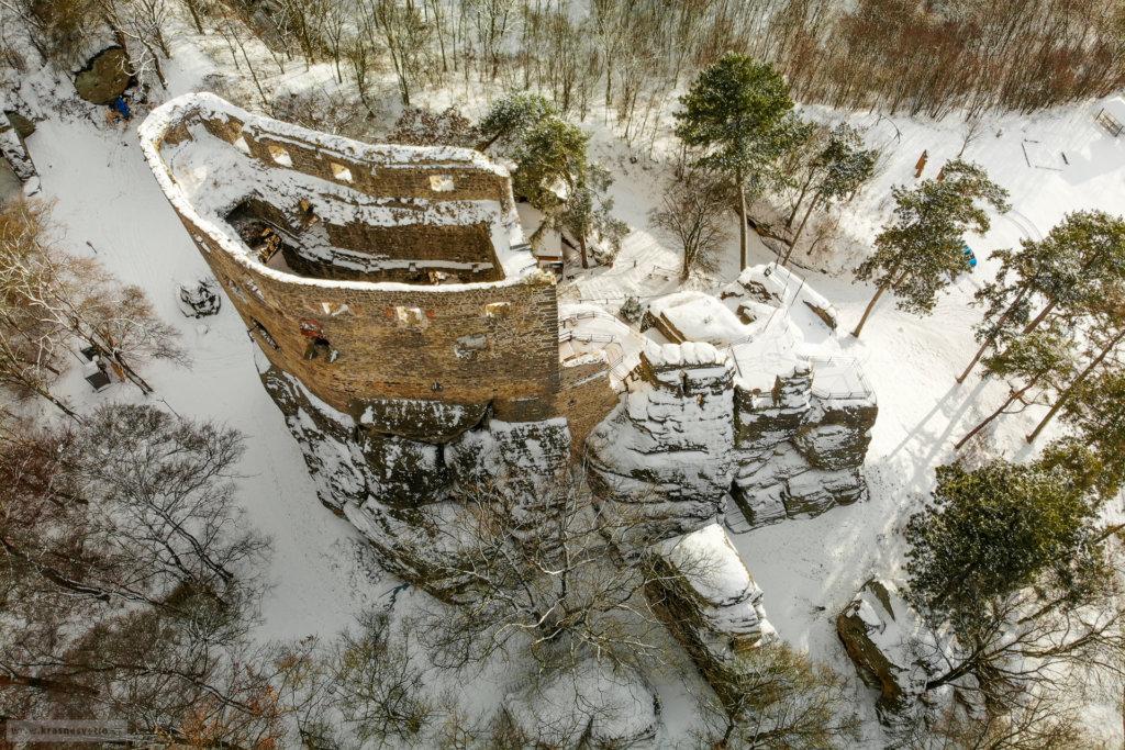 Letecký snímek Valečova